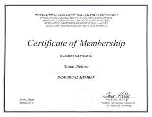 Certifikát jungovský analytik